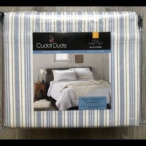 Cuddl Duds Cotton Flannel Sheet Set Full
